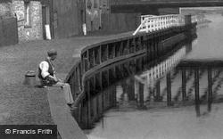 A Boy Fishing 1900, Northwich