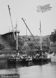 Northwich, Boats Waiting At The Anderton Boat Lift c.1960
