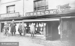 Northwich, J. Barlow's Butcher Shop c.1900