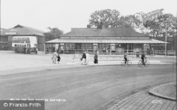 Northwich, The Bus Station c.1955