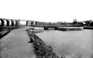 Northwich, the Viaduct and Locks 1898