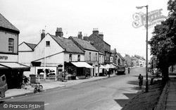 Norton, Commercial Street c.1955, Norton-on-Derwent