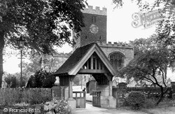 Norton On Tees, Lychgate And St Mary The Virgin Church c.1955
