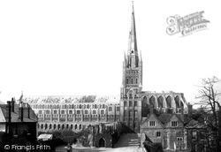Norwich, Cathedral, From Lower Close 1891
