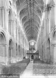 Norwich, Cathedral, Nave East 1891
