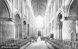 Norwich, Cathedral, Nave West 1891
