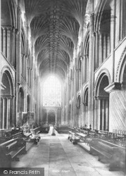 Norwich, Cathedral, Nave West 1896