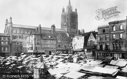 Norwich, Market Place And St Peter Mancroft Church 1891