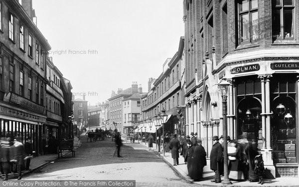 Norwich, Rampant Horse Street 1891