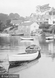 Noss Mayo, Boats Moored On The Yealm 1924