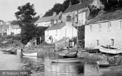 Noss Mayo, Houses By River Yealm 1924