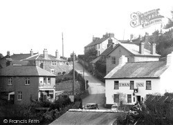 Noss Mayo, Swan Inn And Hill c.1955