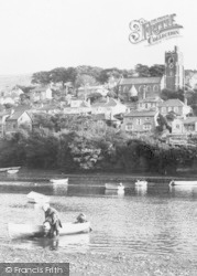 Noss Mayo, The Village And St Peter's Church c.1960