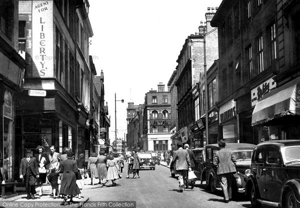 Nottingham, Clumber Street c1950