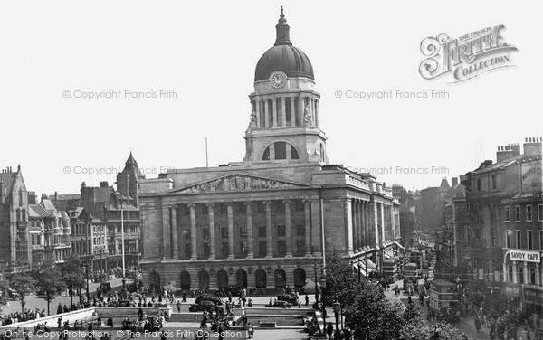 Nottingham Council House Market Square C 1950 Francis