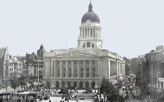 Nottingham, Council House, Market Square c1950