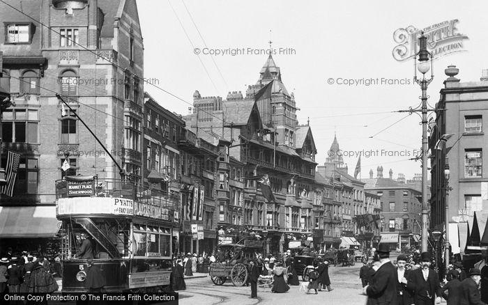 Photo of Nottingham, Long Row East 1902