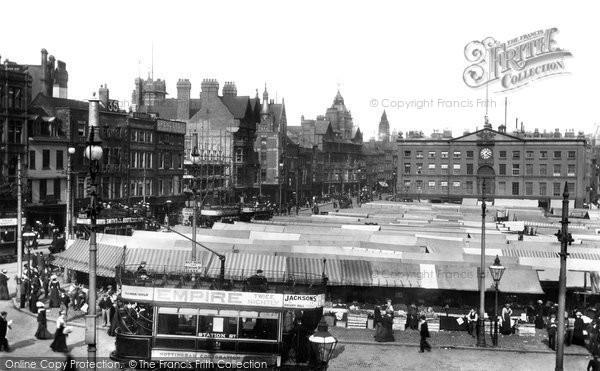 Nottingham, Market Square 1902