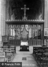 Nottingham, St Mary's Church, Choir Screen c1890