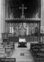 Nottingham, St Mary's Church, Choir Screen c.1890