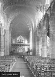 Nottingham, St Mary's Church, Nave East 1890