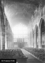 Nottingham, St Mary's Church, Nave West 1890