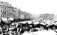 Nottingham, the Market 1890