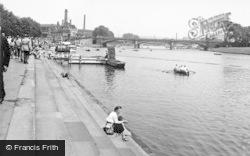 Nottingham, Trent Bridge And River c.1955