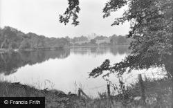 Nottingham, Wollaton Hall Lake 1928