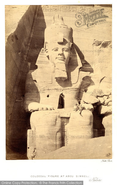 Photo of Nubia, Colossal Figure At Abou Simbel 1860