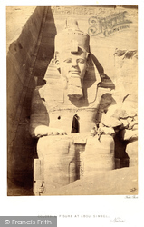 Nubia, Colossal Figure At Abou Simbel 1860