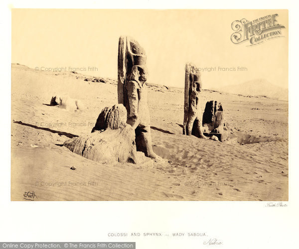 Photo of Nubia, Colossi And Sphynx At Wady Saboua 1860