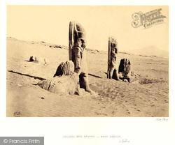 Nubia, Colossi And Sphynx At Wady Saboua 1860