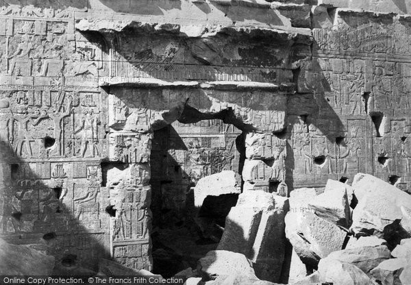 Photo of Nubia, Doorway In The Temple Of Kalabshe 1860