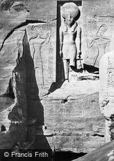 Nubia, Entrance to the Great Temple, Abou Simbel 1860