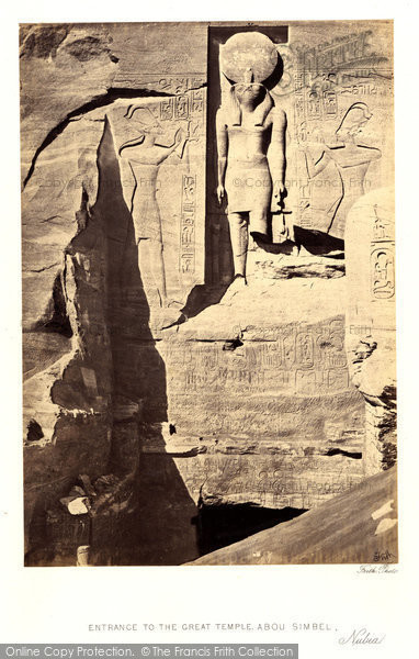 Photo of Nubia, Entrance To The Great Temple, Abou Simbel 1860