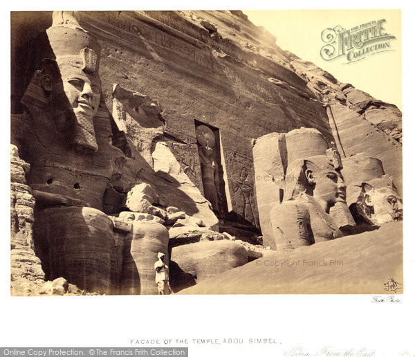 Photo of Nubia, Facade Of The Great Temple Of Abou Simbel From The East 1860