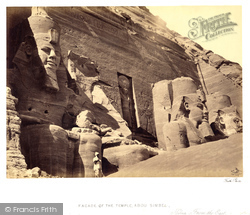 Nubia, Facade Of The Great Temple Of Abou Simbel From The East 1860