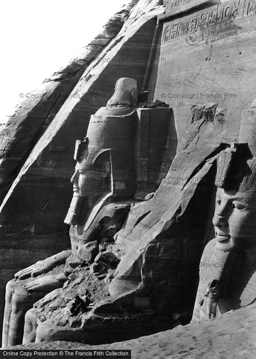 Photo of Nubia, Facade Of The Great Temple Of Abou Simbel From The West 1857