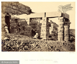 Nubia, Portico Of The Temple Of Gerf Hossayn 1860