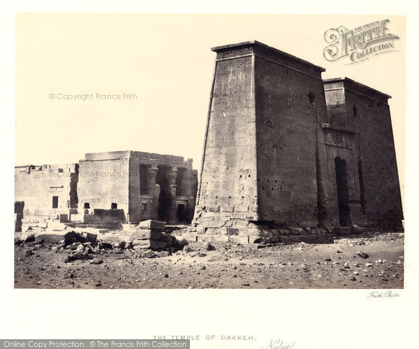 Photo of Nubia, The Temple Of Dakkeh 1857