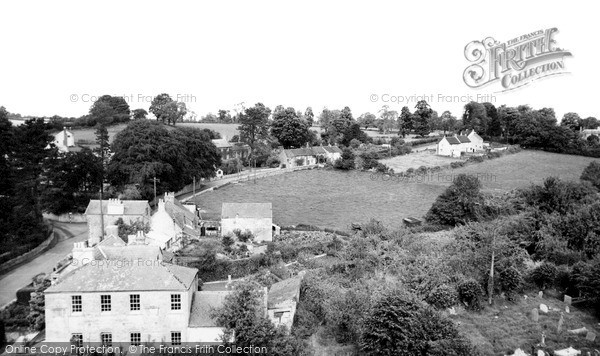 Photo of Nunney, Frome Road from Church Tower c1960