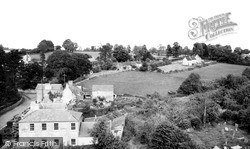 Nunney, Frome Road From Church Tower c.1960
