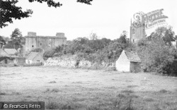 The Castle And Church c.1955, Nunney