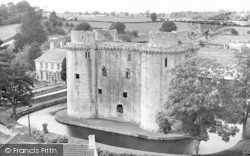 Nunney, The Castle And Manor House c.1955