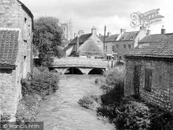 Nunney, The River Frome And Bridge c.1955