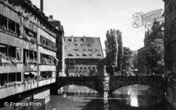 Bridge And River c.1930, Nuremburg