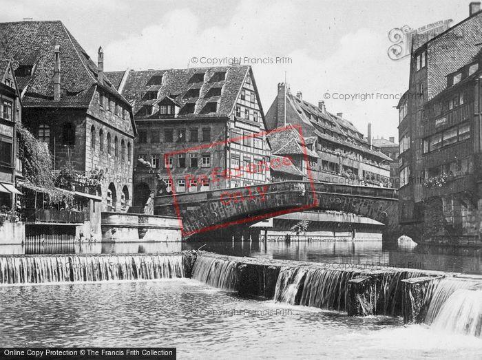Photo of Nuremburg, Bridge And Weir c.1930