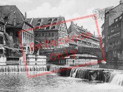 Bridge And Weir c.1930, Nuremburg