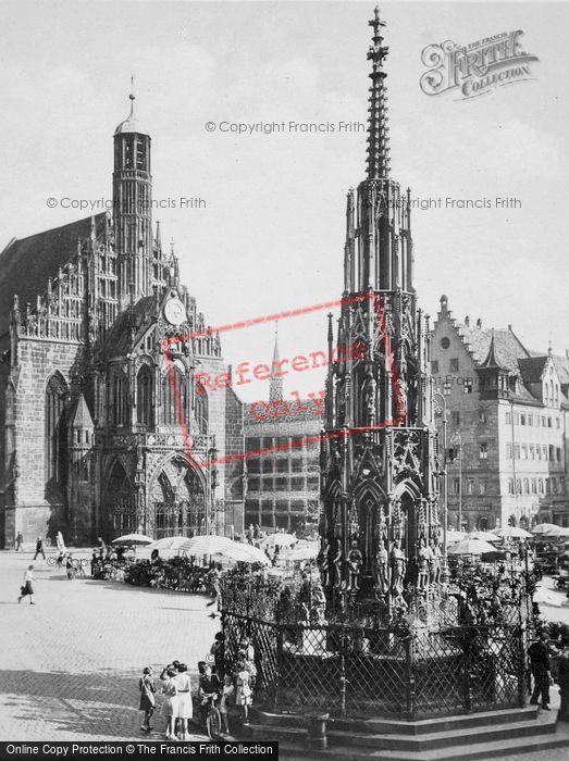 Photo of Nuremburg, Church And Fountain c.1930
